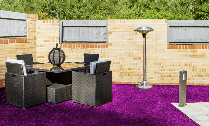 Purple artificial Grass Swansea