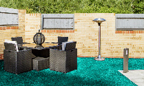 Blue artificial Grass Swansea
